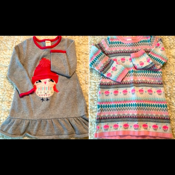 Two Gymboree sweater dresses. Size 2T